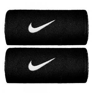 Nike-Mansete Swoosh Doublewide Negre