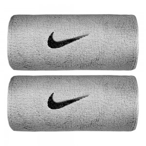 Nike-Mansete Swoosh Doublewide Gri