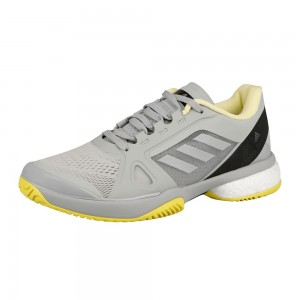 adidas - by Stella McCartney Barricade Boost All Court Incaltaminte Tenis Femei Gri deschis/Galben/Alb