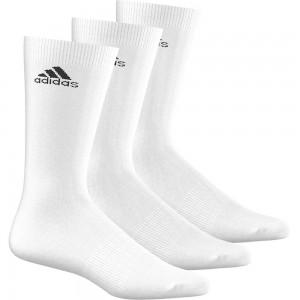 Adidas-Sosete Performance Crew Thin Sports Alb