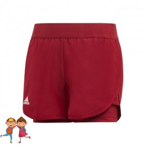 adidas - Club 2 In 1 Short Tenis Fete Visiniu/Alb