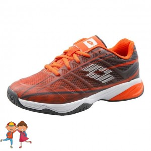 Lotto - Mirage 300 All Court Incataminte Tenis Unisex Copii Visiniu/Portocaliu coral/Alb