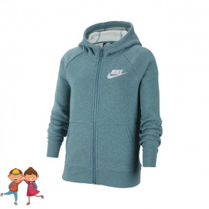 Nike - Sportswear Full-Zip Training Hanorac Fete (Copii) Verde petrol/Alb