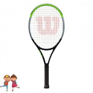"""Wilson - Blade V 7.0 25"""" Junior (2019) Racheta Tenis Competitionala Copii Negru/Verde deschis/Argintiu"""