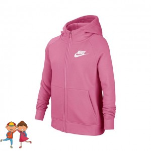 Nike - Sportswear Full-Zip Training Hanorac Fete (Copii) Roz flamingo/Alb