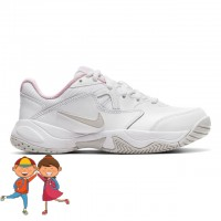 Nike - Court Lite 2 Jr. All Court Incaltaminte Tenis Fete Alb/Gri deschis/Roz deschis