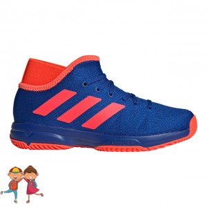 adidas - Phenom Junior All Court Incaltaminte Tenis Unisex Copii Albastru/Rosu solar