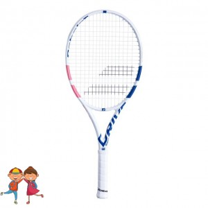 "Babolat - Pure Drive French Open Jr. 26"" (2020) Racheta Tenis Competitionala Copii Alb/Albastru/Rosu coral"