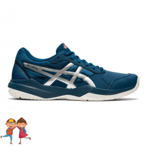 Asics - Gel-Game 7 GS All Court Incaltaminte Tenis Unisex Copii Albastru petrol/Argintiu/Alb/Coral