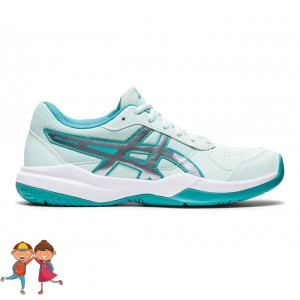 Asics - Gel-Game 7 GS All Court Incaltaminte Tenis Unisex Copii Alb/Albastru turcoaz/Argintiu