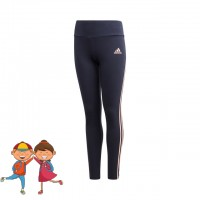 adidas - Essentials 3-Stripes Tight Colanti Sport Fete (Copii) Bleumarin/Portocaliu caisa