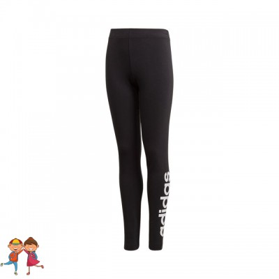 adidas - Essentials Linear Tight Colanti Sport Fete (Copii) Negru/Alb