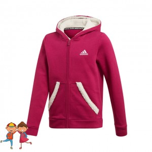 adidas - Must Have Zip Hoodie Hanorac Fete (Copii) Violet berry/Crem