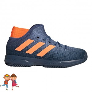 adidas - Phenom Junior All Court Incaltaminte Tenis Unisex Copii Bleumarin/Portocaliu