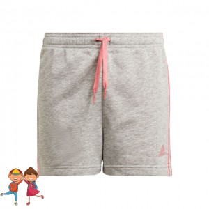 adidas - Essentials Big Logo Short Tenis Fete Gri deschis/Roz