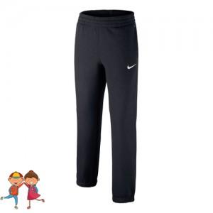Nike - Sportswear Brushed Pantaloni Trening Baieti Negru/Alb