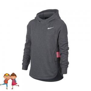 Nike - Studio Hoody Hanorac Fete Gri inchis/Roz/Alb