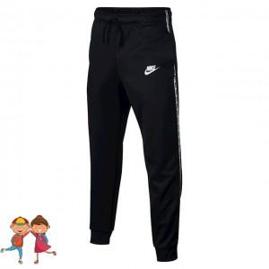 Nike - Sportswear Repeat Pantaloni Trening Baieti Negru/Alb