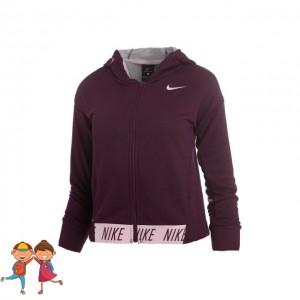 Nike - Dri-Fit Hoody Hanorac Sport Fete Visiniu/Roz