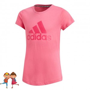 adidas - Must Have Badge Of Sports Tee Tricou Tenis Fete Roz/Magenta