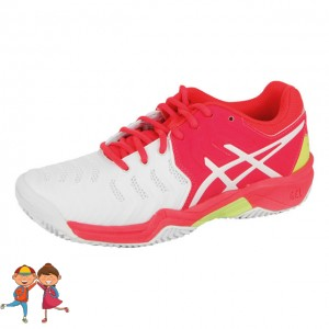 Asics - Gel-Resolution Clay 7 GS Jr. Clay Incaltaminte Tenis Zgura Unisex Copii Alb/Roz/Galben