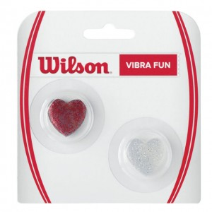 Wilson - Simona Halep Hearts Dampener Set 2 Buc. Rosu/Argintiu