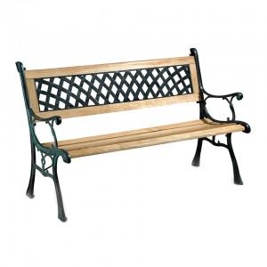 Banca metal + lemn 126 x 55 x 74 cm