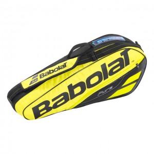 Babolat - Pure Aero 2018 Geanta Tenis X3 Rachete Galben/Negru