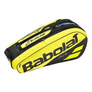 Babolat - Pure Aero 2018 Geanta Tenis X6 Rachete Galben/Negru