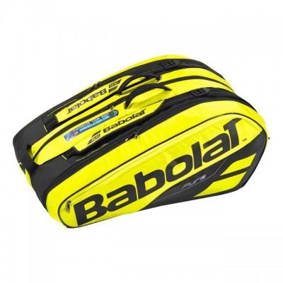 Babolat - Pure Aero 2018 Geanta Tenis X12 Rachete Galben/Negru