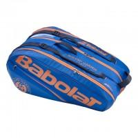 Babolat - Pure Roland Garros (2019) Geanta Tenis X12 Rachete Albastru inchis/Portocaliu/Bleumarin