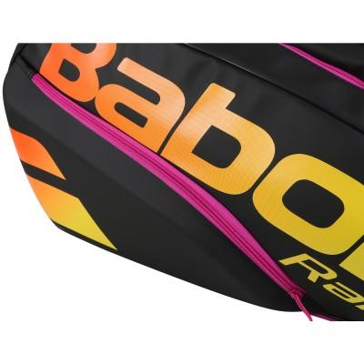 Babolat - Pure Aero Rafa 2021 Geanta Tenis X12 Rachete Negru/Galben/Portocaliu/Violet