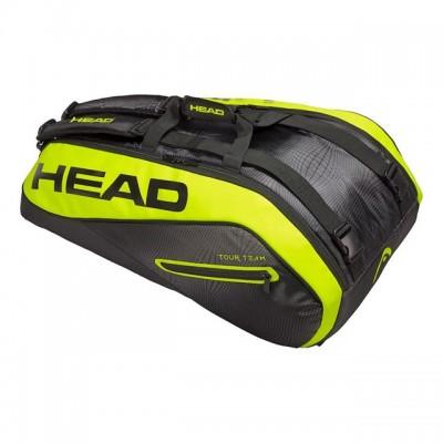 HEAD - Extreme 2018 9R Supercombi Geanta Tenis 9 Rachete Negru/Galben neon