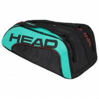 HEAD - Gravity Tour Team 12R Monstercombi Geanta Tenis 12 Rachete Negru/Verde Turcoaz/Rosu Coral