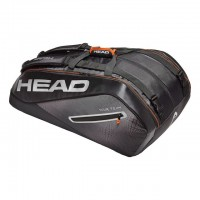 HEAD - Tour Team 12R Monstercombi Geanta Tenis 12 Rachete Negru/Argintiu/Portocaliu