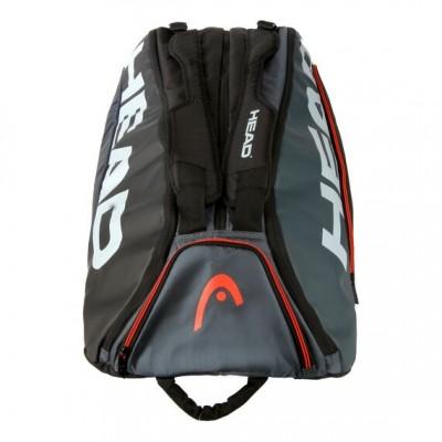 HEAD - Tour Team 2020 12R Monstercombi Geanta Tenis 12 Rachete Negru/Gri/Alb/Portocaliu