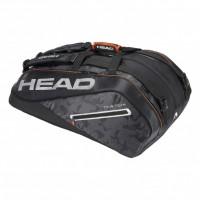 HEAD - Tour Team 12R Monstercombi Geanta Tenis 12 Rachete Negru/Argintiu/Portocaliu