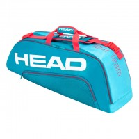 HEAD - Tour Team 2020 6R Combi Geanta Tenis 6 Rachete Albastru deschis/Rosu coral/Alb