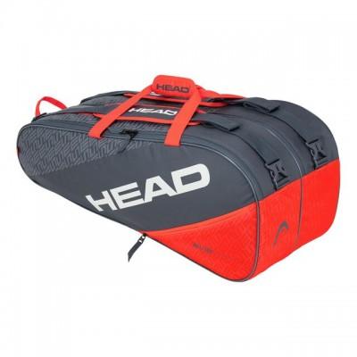 HEAD - Elite 9R Supercombi Geanta Tenis 9 Rachete Gri/Portocaliu/Alb