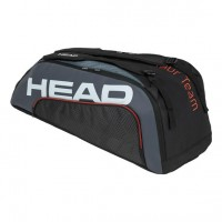 HEAD - Tour Team 2020 9R Supercombi Geanta Tenis 9 Rachete Negru/Gri/Alb/Portocaliu