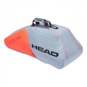 HEAD - Radical Tour Team 2021 9R Supercombi Geanta Tenis 9 Rachete Gri/Portocaliu/Negru