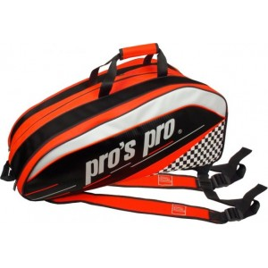 Pro's Pro - Geanta Tenis 12 Rachete Portocaliu/Negru/Alb