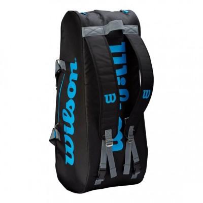 Wilson - Ultra 2020 Geanta Tenis 9 Rachete Negru/Albastru/Argintiu