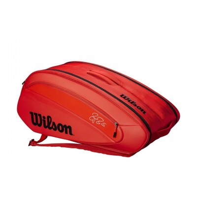 Wilson - Federer DNA Geanta tenis x12 Rachete rosu/alb