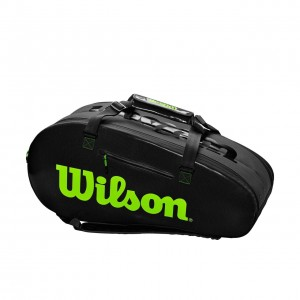 Wilson - Blade Super Tour Geanta Tenis 9 Rachete Negru/Verde