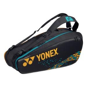 Yonex 92026 Pro Geanta tenis de camp pentru 6 rachete Culoare Negru Auriu
