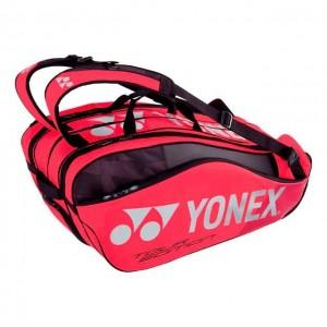 Yonex - Pro Geanta Tenis X10 Rachete (2019) Rosu/Negru/Argintiu