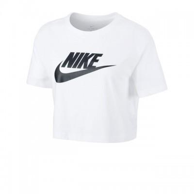 Nike - Sportswear Essential Crop Top Tricou Talie Scurta Femei Alb/Negru