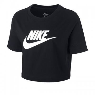Nike - Sportswear Essential Crop Top Tricou Talie Scurta Femei Negru/Alb