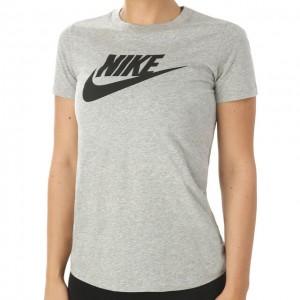 Nike - Sportswear Essential Logo Tee Tricou Tenis Femei Gri/Negru